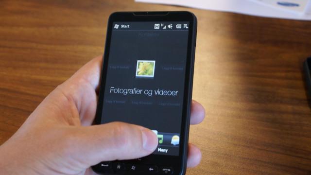 Tilbake til HTC-skallet. Du blar til høyre og venstre for å få tilgang til mest brukte funksjoner.